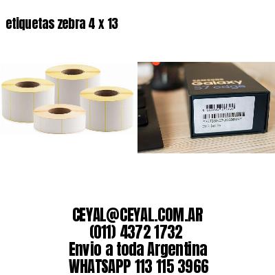 etiquetas zebra 4 x 13