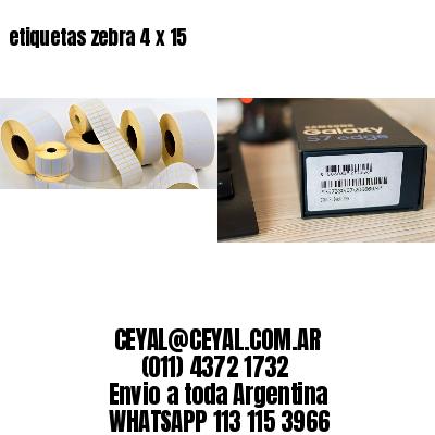etiquetas zebra 4 x 15