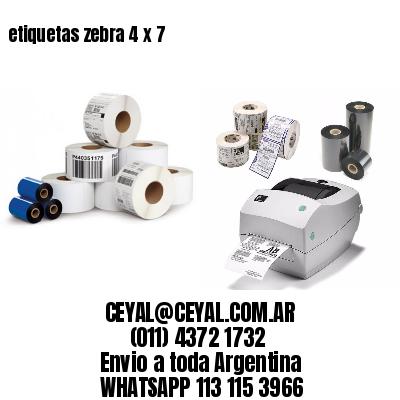 etiquetas zebra 4 x 7