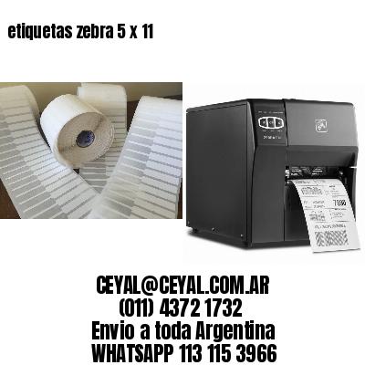 etiquetas zebra 5 x 11
