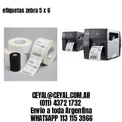 etiquetas zebra 5 x 6