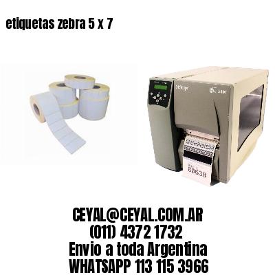 etiquetas zebra 5 x 7