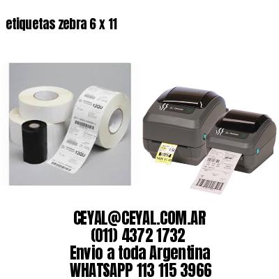 etiquetas zebra 6 x 11