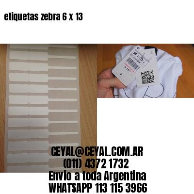 etiquetas zebra 6 x 13