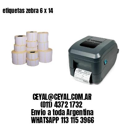 etiquetas zebra 6 x 14