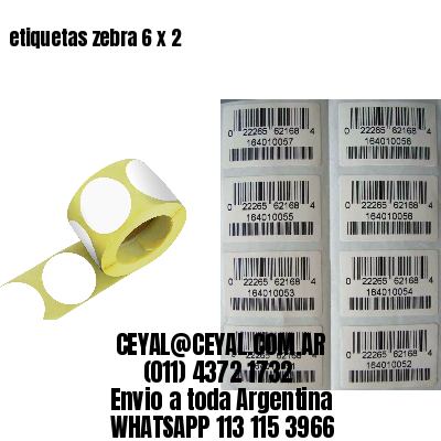 etiquetas zebra 6 x 2