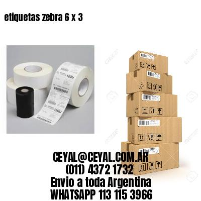 etiquetas zebra 6 x 3