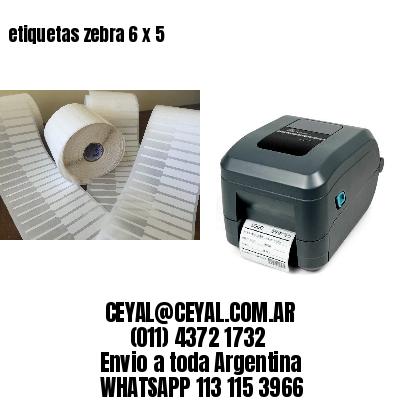 etiquetas zebra 6 x 5