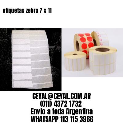 etiquetas zebra 7 x 11