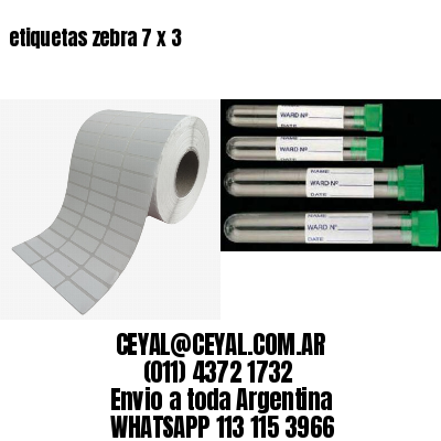 etiquetas zebra 7 x 3