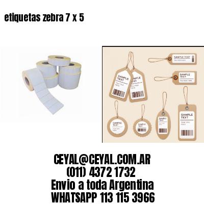 etiquetas zebra 7 x 5