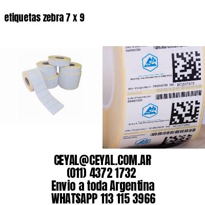 etiquetas zebra 7 x 9