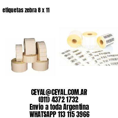 etiquetas zebra 8 x 11