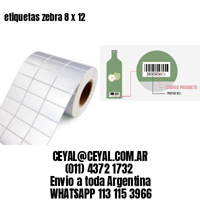 etiquetas zebra 8 x 12