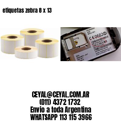 etiquetas zebra 8 x 13