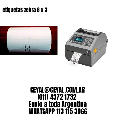 etiquetas zebra 8 x 3