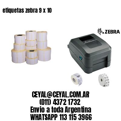 etiquetas zebra 9 x 10