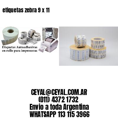 etiquetas zebra 9 x 11