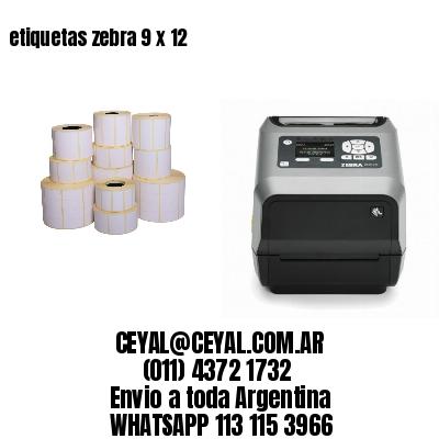 etiquetas zebra 9 x 12