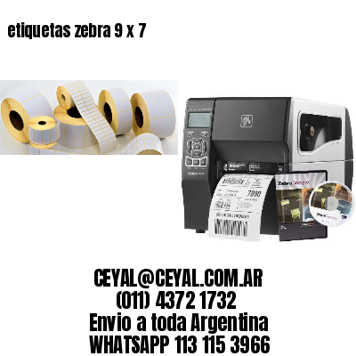 etiquetas zebra 9 x 7
