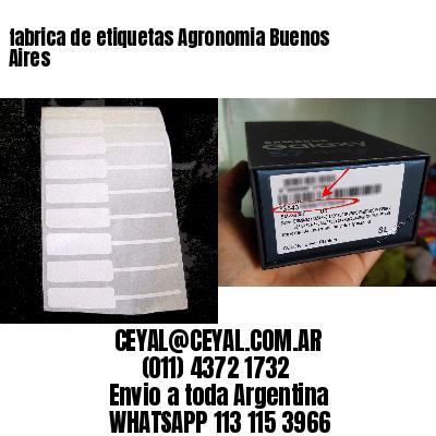 fabrica de etiquetas Agronomia Buenos Aires