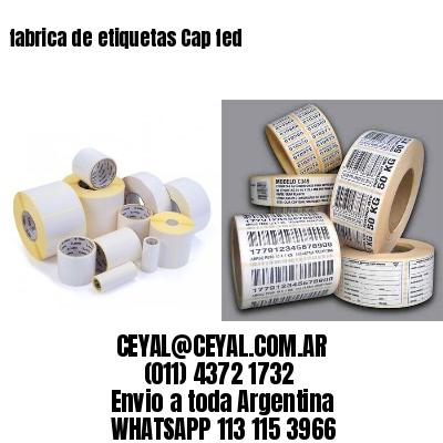 fabrica de etiquetas Cap fed