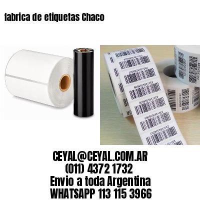 fabrica de etiquetas Chaco