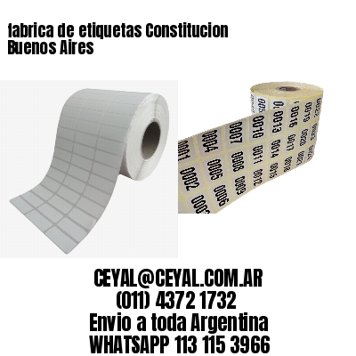 fabrica de etiquetas Constitucion  Buenos Aires