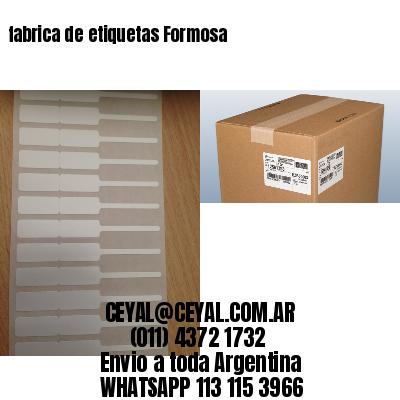 fabrica de etiquetas Formosa