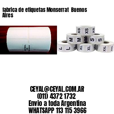 fabrica de etiquetas Monserrat  Buenos Aires