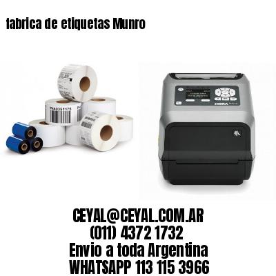 fabrica de etiquetas Munro
