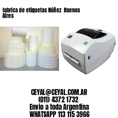 fabrica de etiquetas Núñez  Buenos Aires
