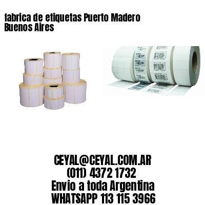 fabrica de etiquetas Puerto Madero  Buenos Aires