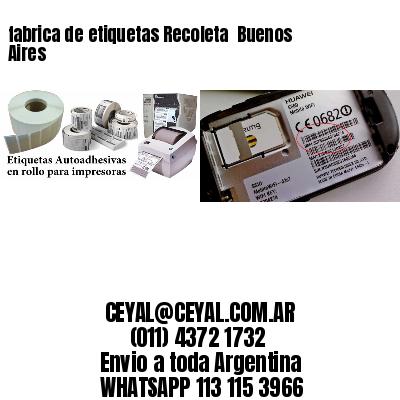fabrica de etiquetas Recoleta  Buenos Aires