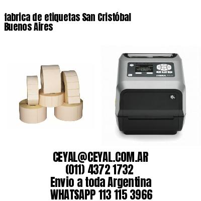 fabrica de etiquetas San Cristóbal  Buenos Aires