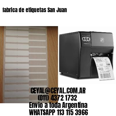 fabrica de etiquetas San Juan