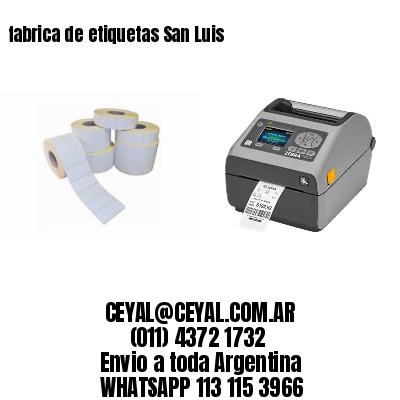 fabrica de etiquetas San Luis