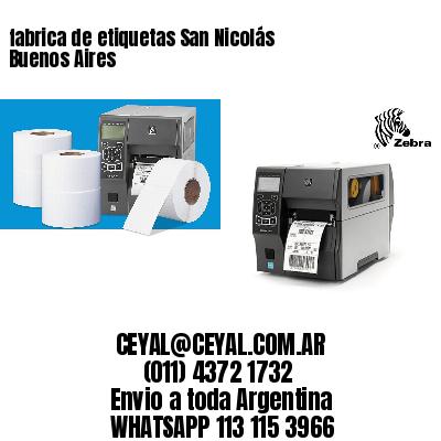 fabrica de etiquetas San Nicolás  Buenos Aires