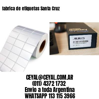 fabrica de etiquetas Santa Cruz