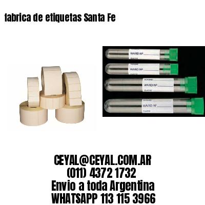 fabrica de etiquetas Santa Fe