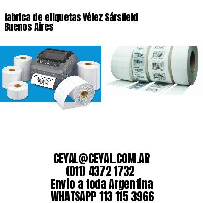 fabrica de etiquetas Vélez Sársfield  Buenos Aires
