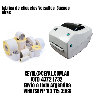 fabrica de etiquetas Versalles  Buenos Aires