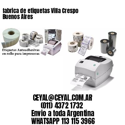 fabrica de etiquetas Villa Crespo  Buenos Aires