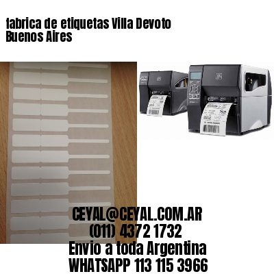 fabrica de etiquetas Villa Devoto  Buenos Aires