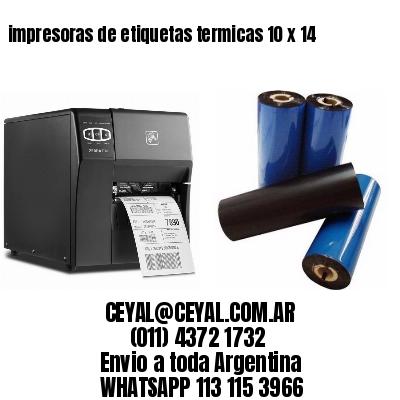 impresoras de etiquetas termicas 10 x 14