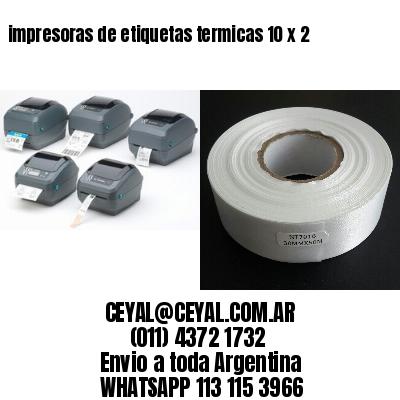 impresoras de etiquetas termicas 10 x 2