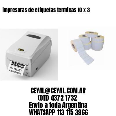impresoras de etiquetas termicas 10 x 3