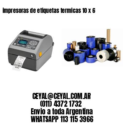 impresoras de etiquetas termicas 10 x 6