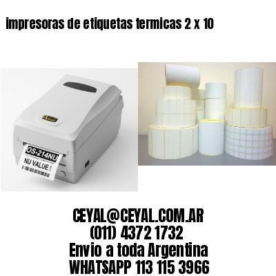 impresoras de etiquetas termicas 2 x 10