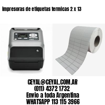 impresoras de etiquetas termicas 2 x 13